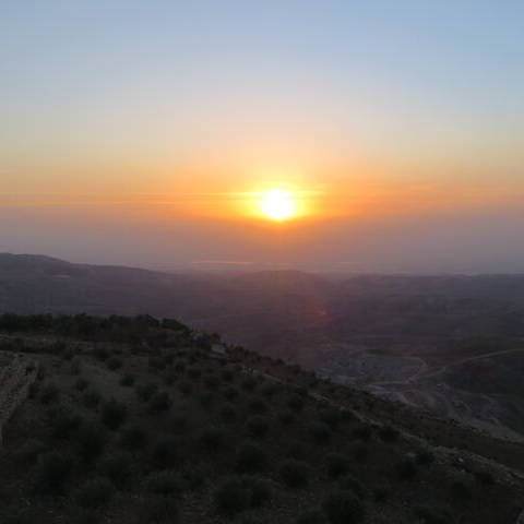 Sunset at the Jordan Valley